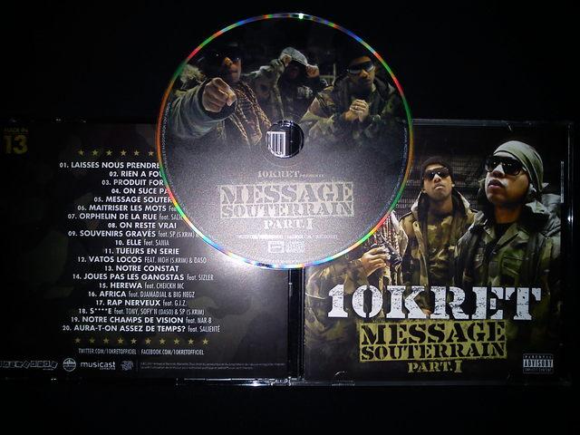 Cover: 10Kret - Message Souterrain Part.1-FR-2011-H5N1