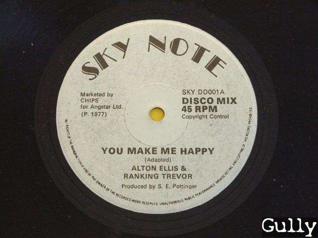 Cover: Alton Ellis and Ranking Trevor - You Make Me Happy Bw Baby I Love You (12_Inch_SKY_DD001)-VLS-1977-Gully