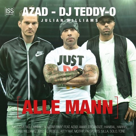Cover: Azad DJ Teddy-O Julian Williams - Alle Mann-WEB-DE-2012-VOiCE