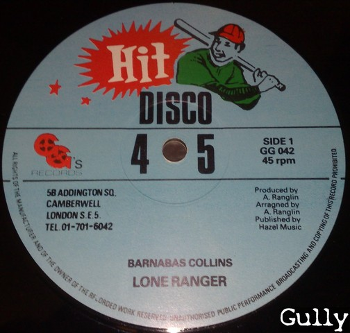 Cover: Lone Ranger - Barnabas Collins (12_Inch_GG_042)-VLS-1979-Gully
