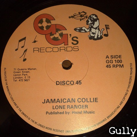 Cover: Lone Ranger - Jamaican Collie (12_Inch_GG_100)-VLS-1982-Gully
