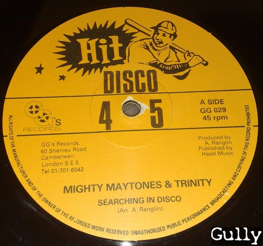 Cover: Mighty Maytones - Searching In Disco Ft Trinity Bw Madness In Disco Ft U Brown (12_Inch_GG_029)-VLS-197x-Gully