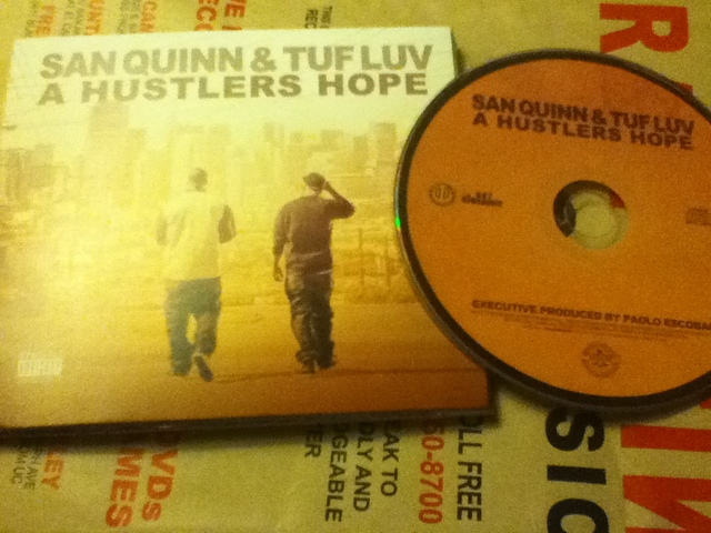 Cover: San Quinn And Tuf Luv - A Hustlers Hope-2011-CR
