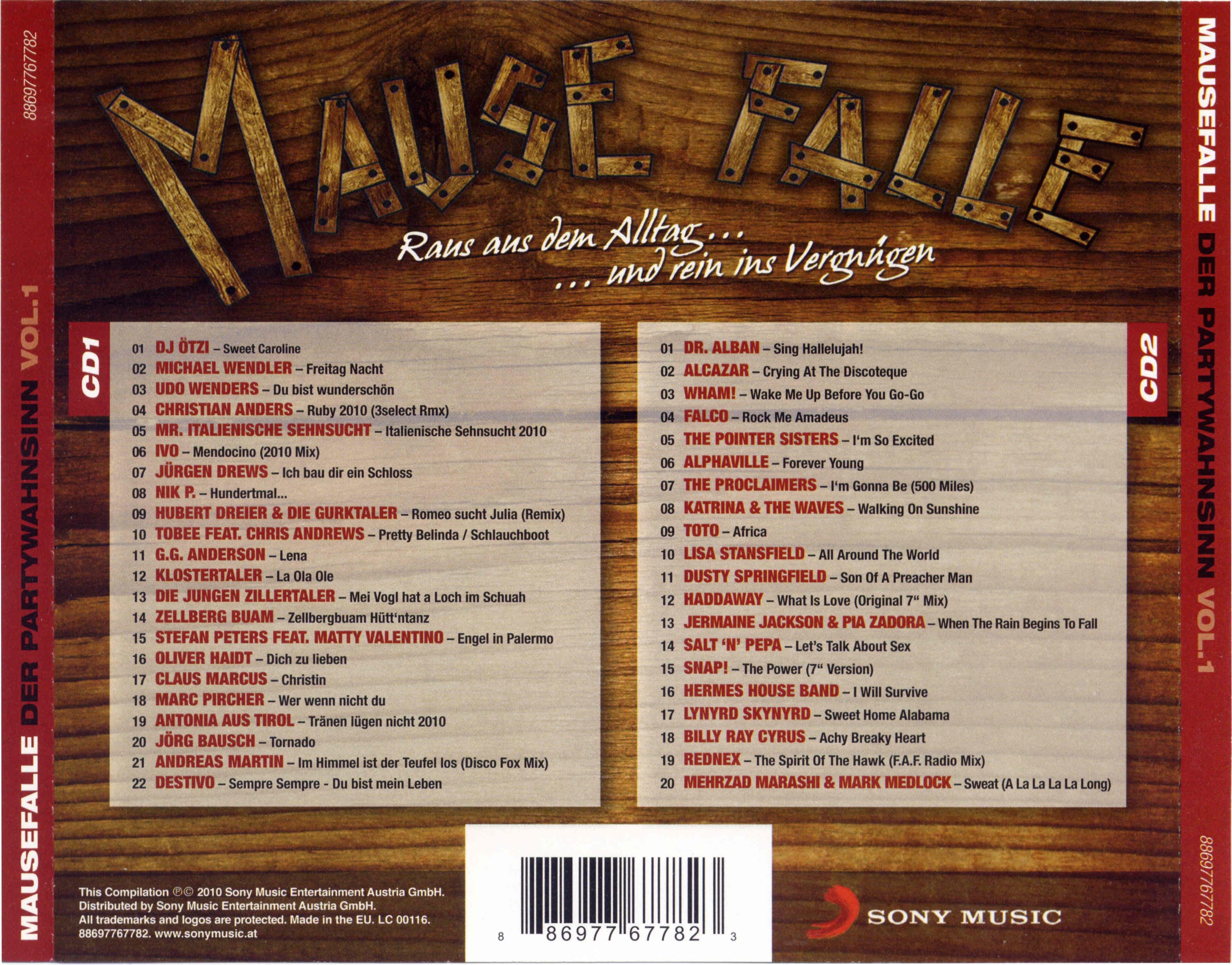 Va-Mausefalle Der Partywahnsinn Vol 1-2Cd-De-2010