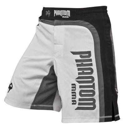 "Die Phantom Fight-Short ""SHADOW"" in weiß."