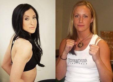 Jessica Penne (l.) vs. Lisa Ellis-Ward (r.) (Foto: alienwarearena.com/.fightergirls.com)