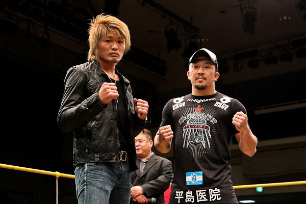 Seichi Ikemoto (l.) und Mizuto Hirota (r.) (Foto: Sherdog)