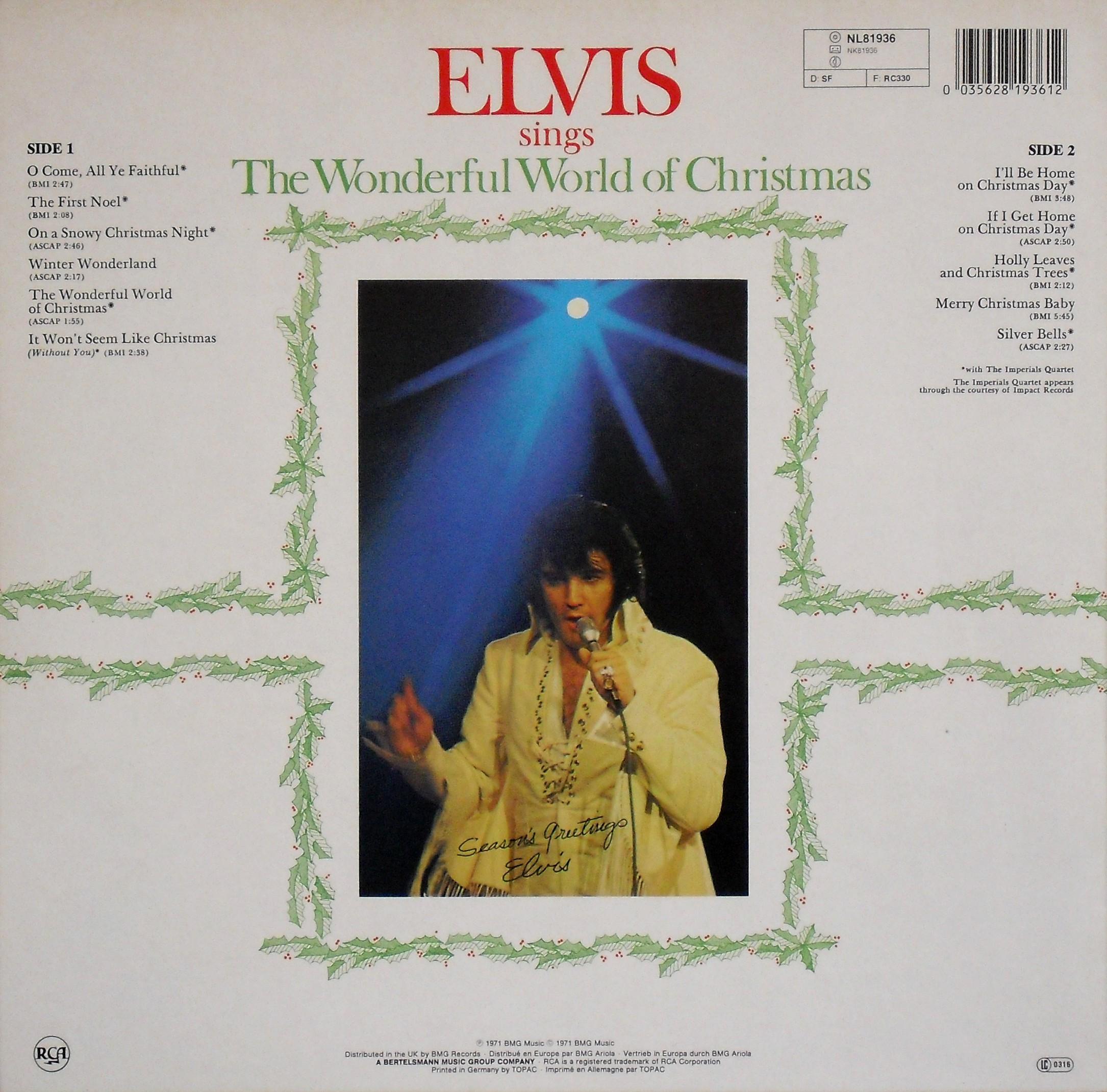 ELVIS SINGS THE WONDERFUL WORLD OF CHRISTMAS 0250p92