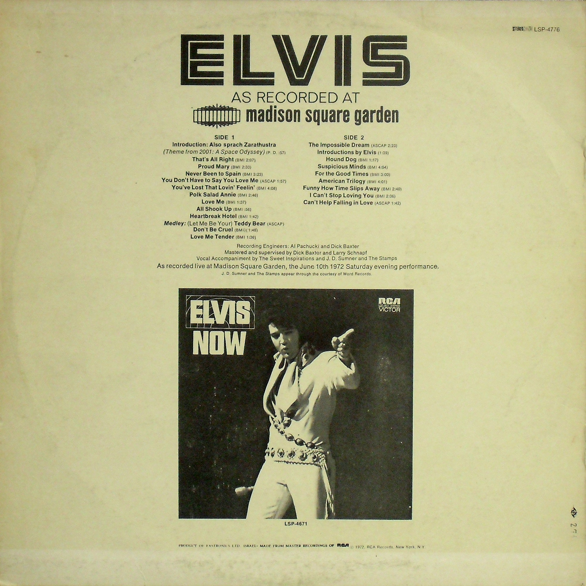 ELVIS AS RECORDED AT MADISON SQUARE GARDEN 02rosys