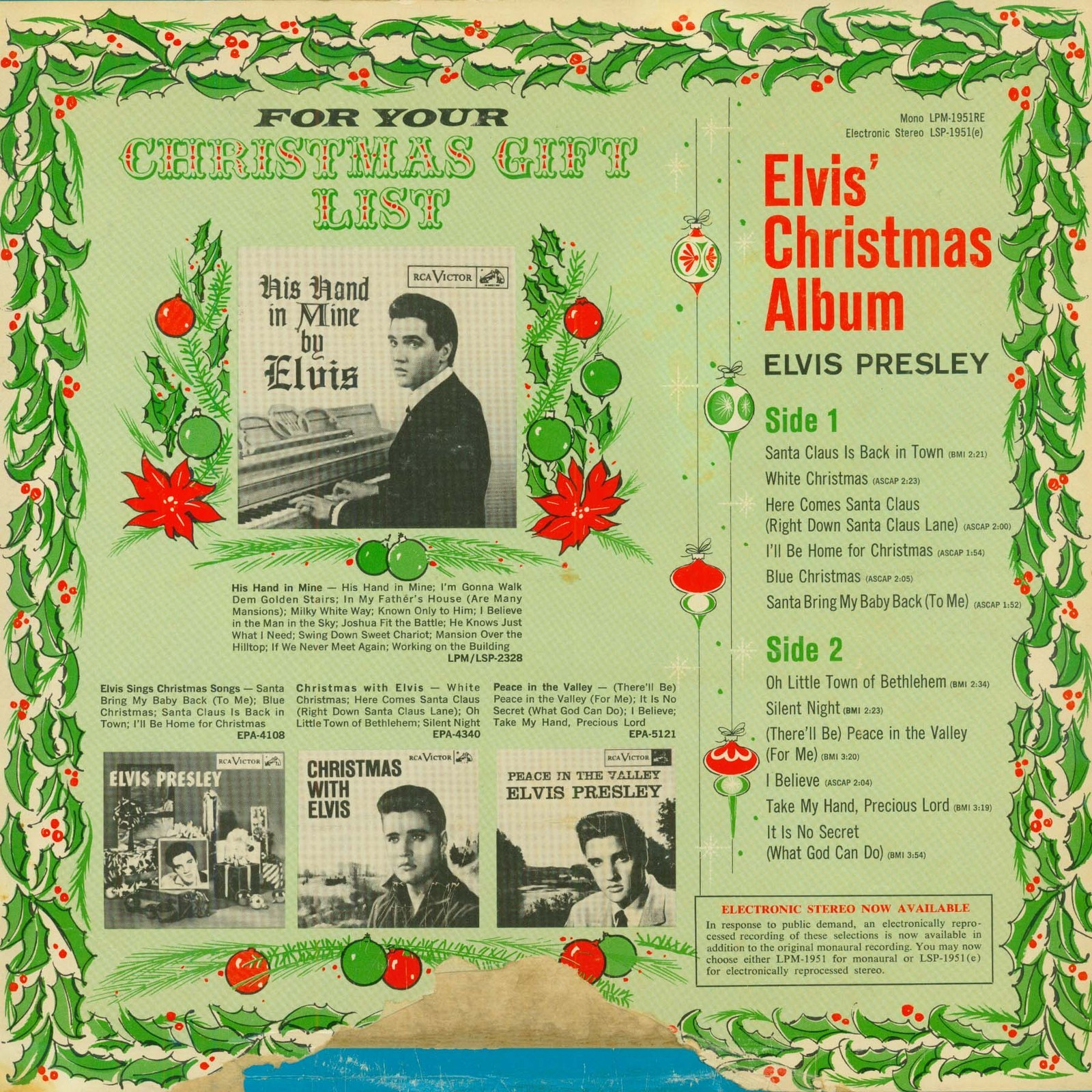 ELVIS' CHRISTMAS ALBUM 02ufypc