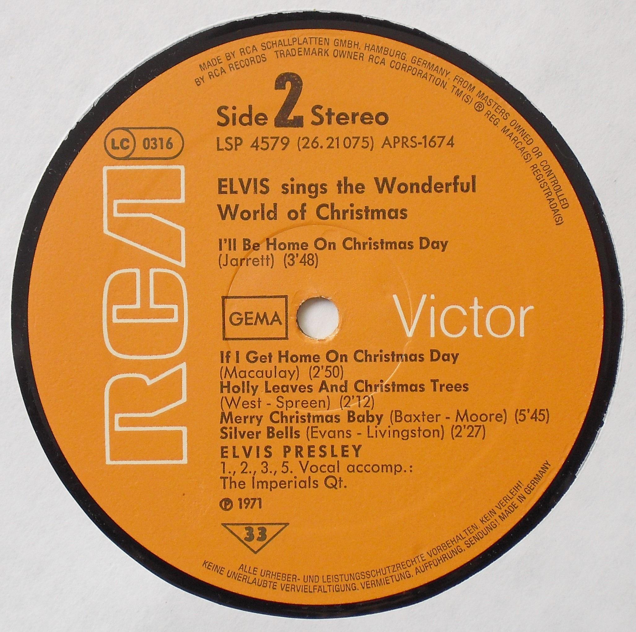 ELVIS SINGS THE WONDERFUL WORLD OF CHRISTMAS 03s2evj21