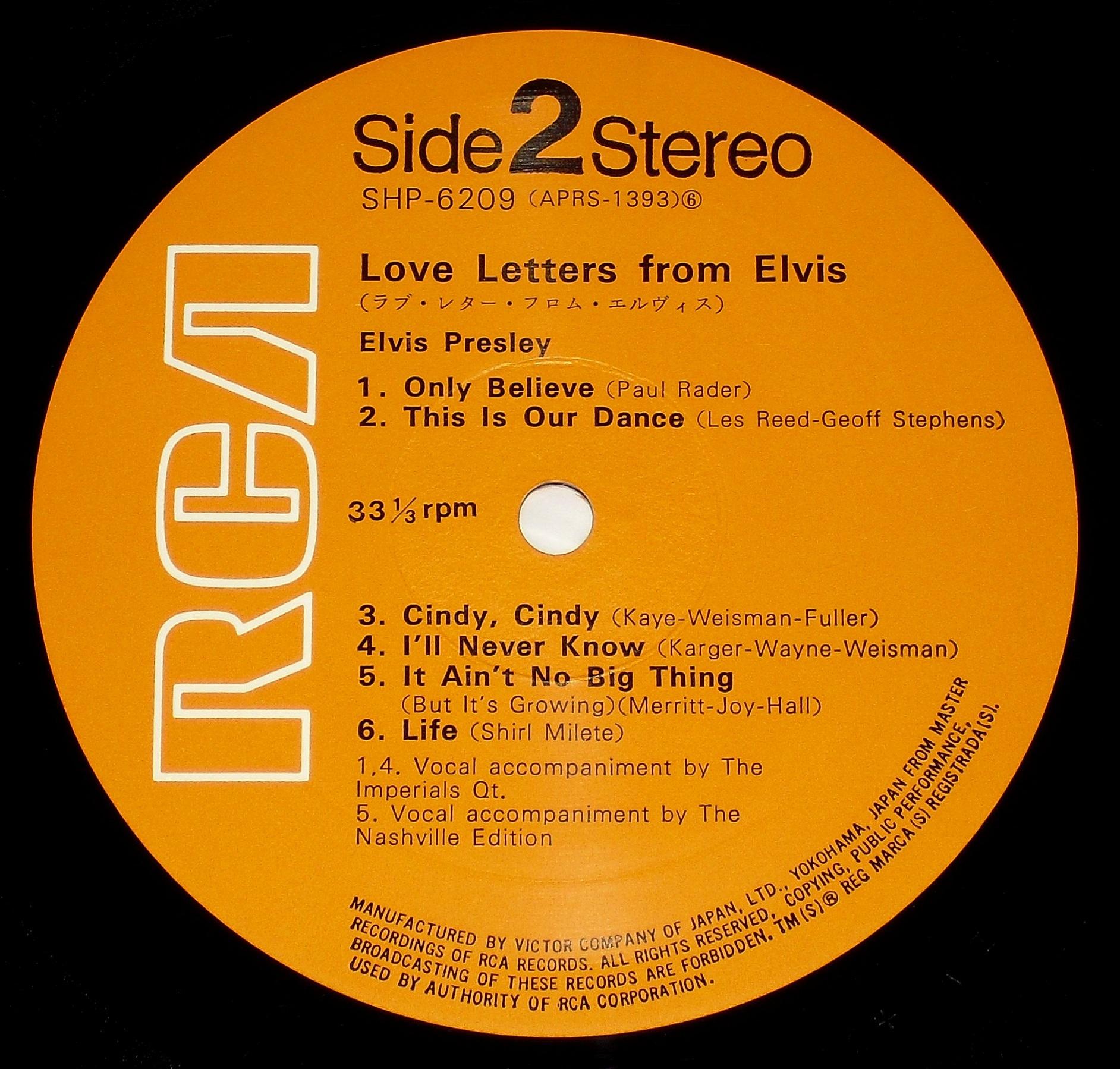 LOVE LETTERS FROM ELVIS 05s2xiorh
