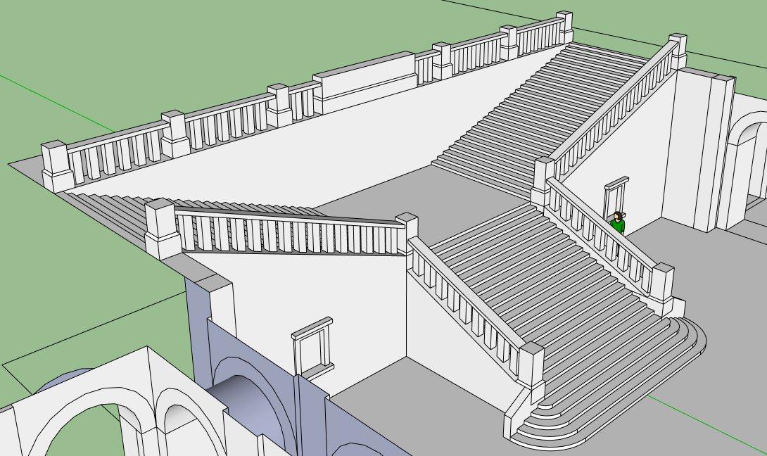 Grundrisse Zeichnen Sketchup : First Look  Projektvorstellungen > Kopfbahnhof im Neorenaissance