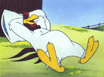 Foghorn leghorn ist der name einer figur der berühmten looney tunes