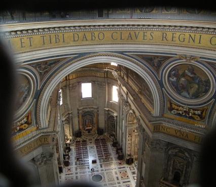 Ansicht des Altars von oben
