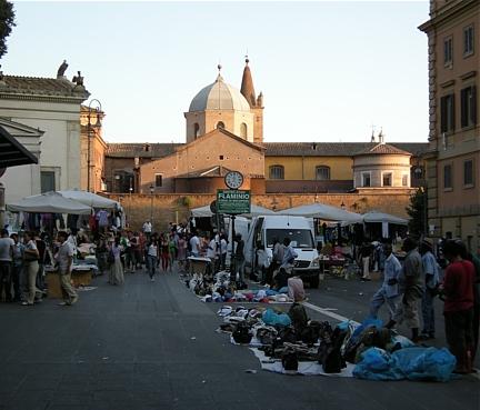 Piazzale Flaminio mit Santa Maria del Popolo