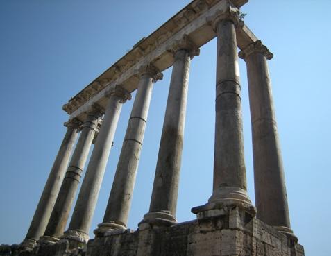 Säulen des Saturntempels