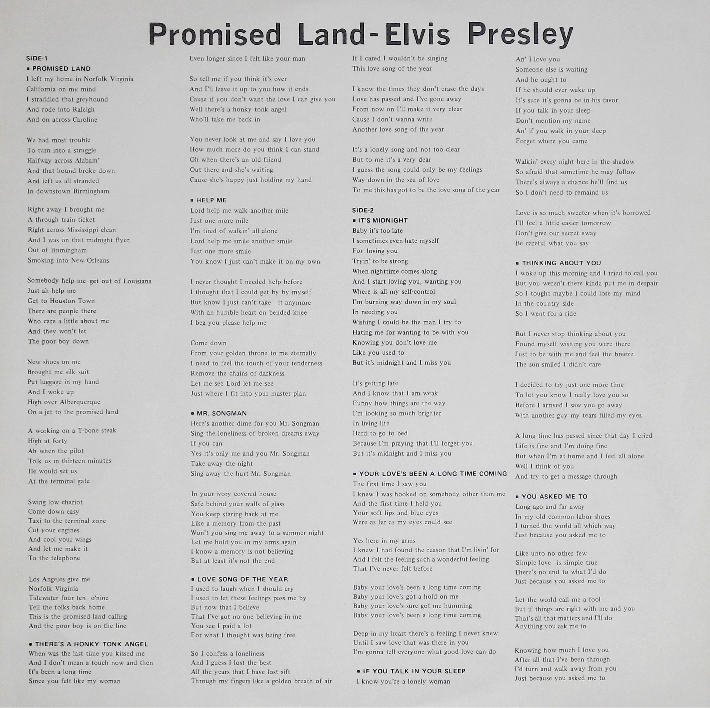 PROMISED LAND 09rdsov