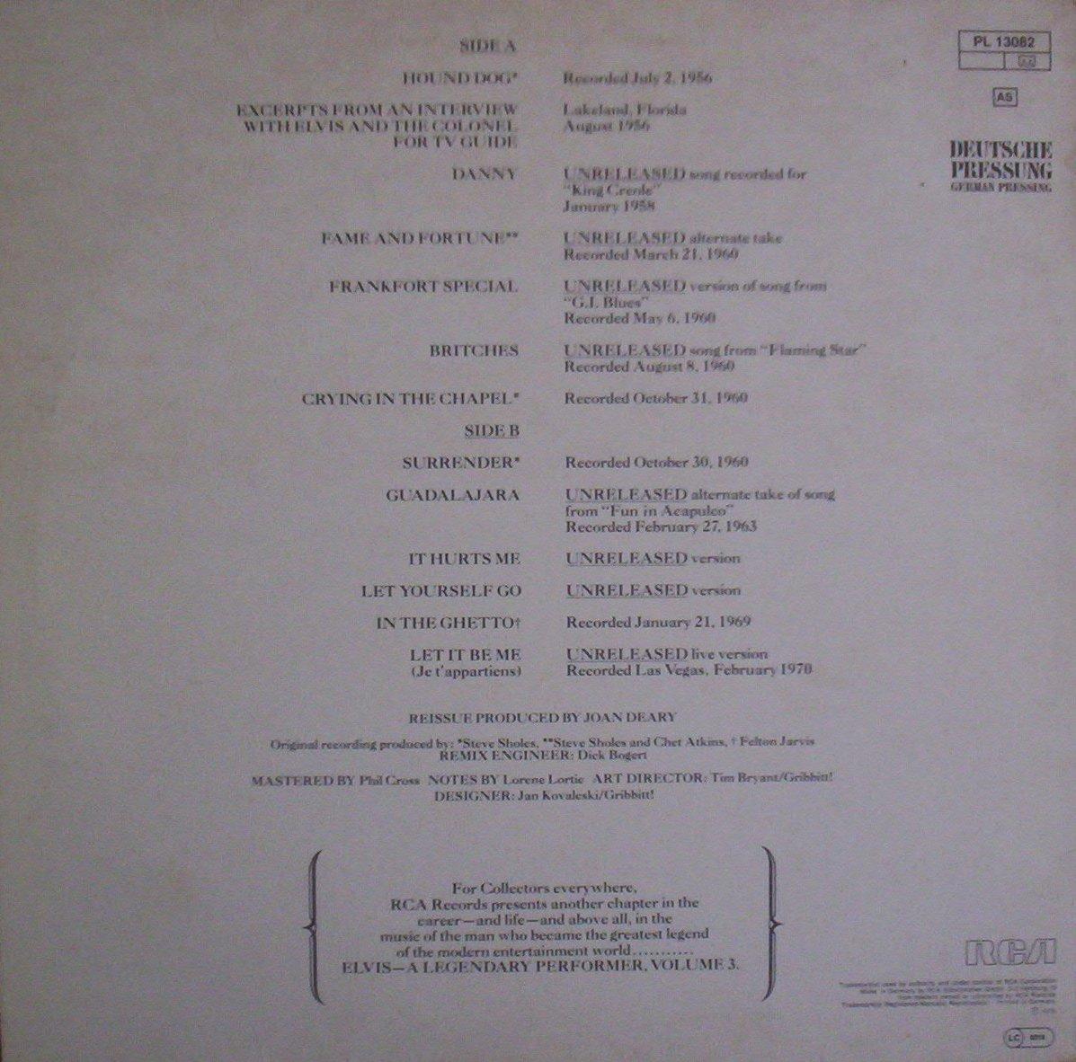 A LEGENDARY PERFORMER - VOLUME 3 100_9613usjrz