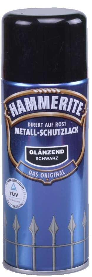 hammerite spraydose metallschutz lack gl nzend 400 ml schwarz neu art ebay. Black Bedroom Furniture Sets. Home Design Ideas