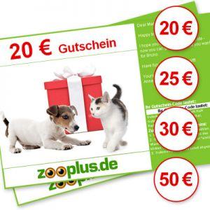 ZooPlus: Geschenkgutscheine mit ~20% Rabatt kaufen! - Versand per Mail! - Tierbedarf