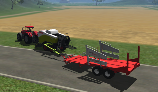 CLAAS Quadrant 3400 with Hitch for Autostacker