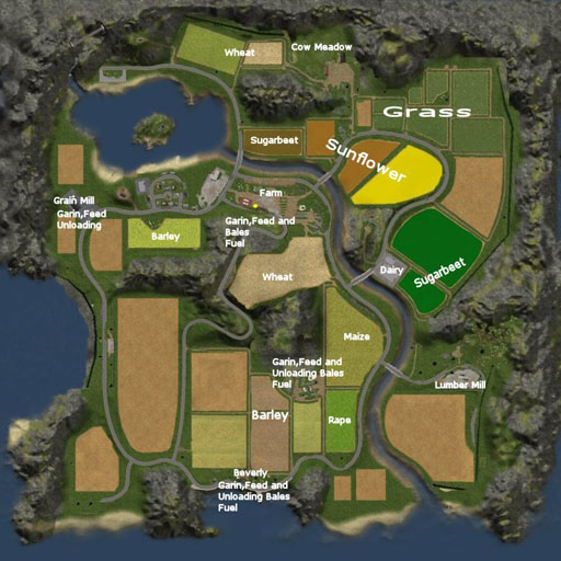 Farmin Simulator 2011 Map v2 by wopito