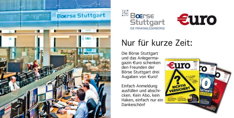 Zeitschrift: 3 Ausgaben €uro kostenlos und ohne Kündigung testen - Anlagetipps