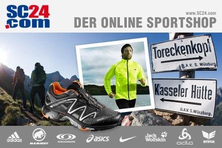 DailyDeal: 60€ Gutschein für SC24.com - nur 22,49€ - Marken-Sportklamotten und Schuhe!
