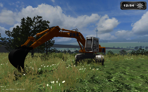 LS 2011 Ultra 2 Power-shovel FIAT-HITACHI FH200 & Heavy transport platform JSM20.12