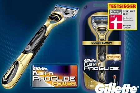 Groupon: Gutschein für Gillette Fusion ProGlide Power Golden Edition Rasierer für nur 6,99€ - abholbar bei dm