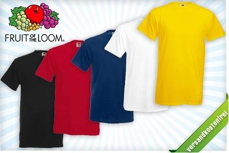 Groupon: 10er Pack Fruit of the Loom T-Shirts für nur 22,22€ inkl. Versand - Heavy Cotton - versch. Farben
