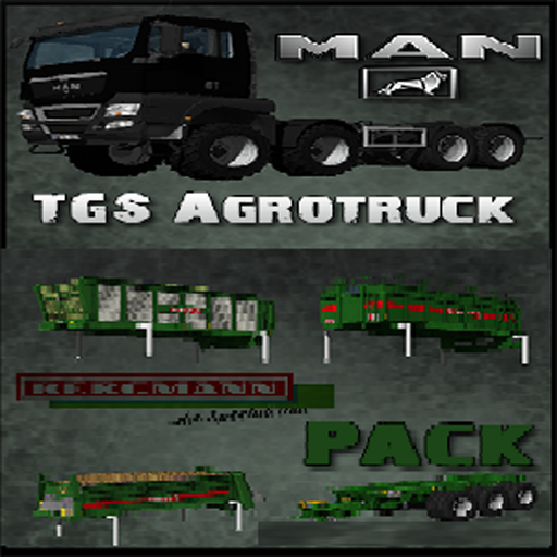 MAN TGS 35.480 Agrotruck and Bergmann Vario Trailer