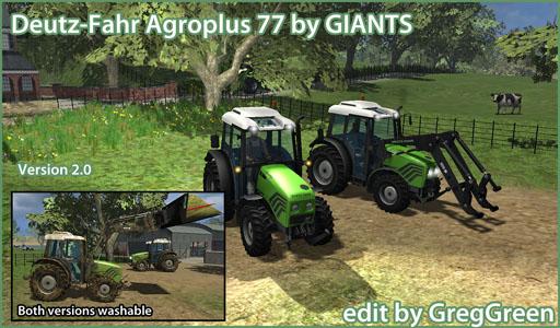 Deutz-Fahr Agroplus 77 - upgraded, v2.0