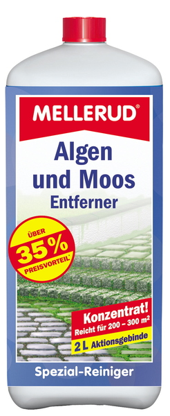 mellerud algen und moos entferner 2 0 l reiniger algenentferner neuware. Black Bedroom Furniture Sets. Home Design Ideas