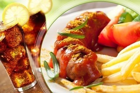 Groupon Hamburg: XXL-Currywurst plus XXL-Pommes plus Softdrinks oder Bier für 2 Personen im Curry Club für 13,90€!!