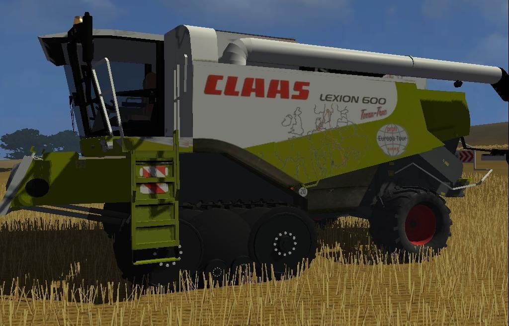 CLAAS Lexion 600 Terra-Trac (European tour skin)
