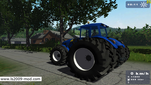 New Holland TG 295 Double Wheels
