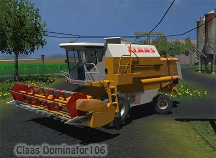 CLAAS Dominator 106 + header (orange)