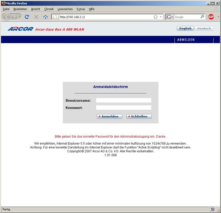 """Arcor Sprachpasswort beim A600 """"finden"""" :-) - ComputerBase Forum"""