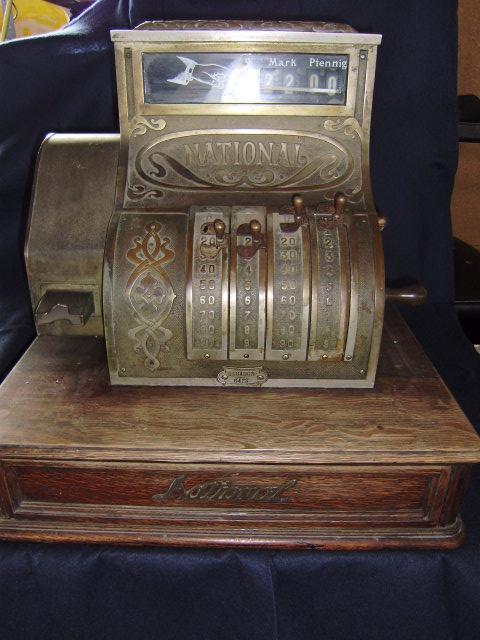 antike alte kasse registrierkasse national berlin funktionsf hig ca 1916 ebay. Black Bedroom Furniture Sets. Home Design Ideas