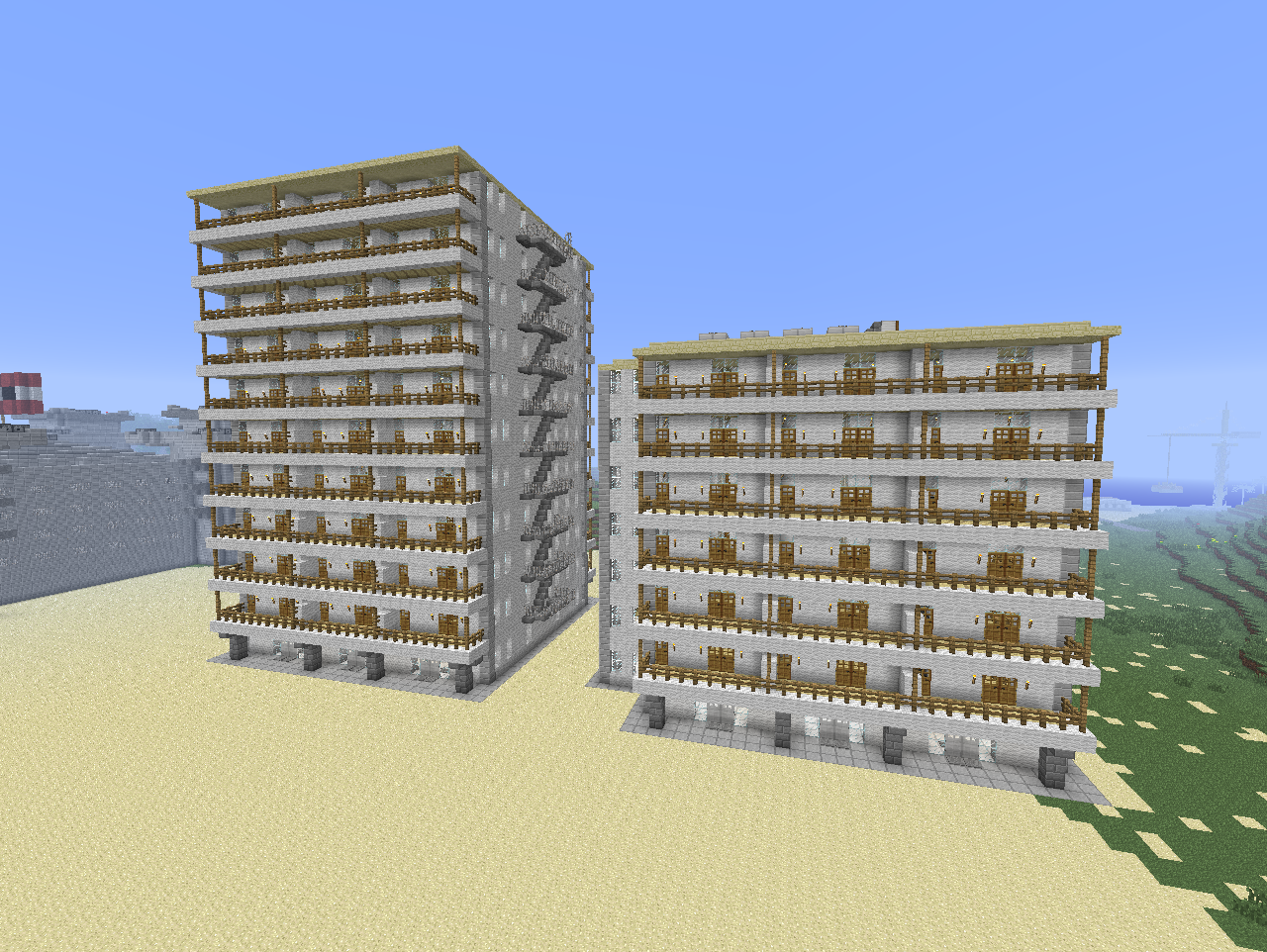 Contest eure geb ude in der stadt von cbn3twork - Minecraft hochhaus ...