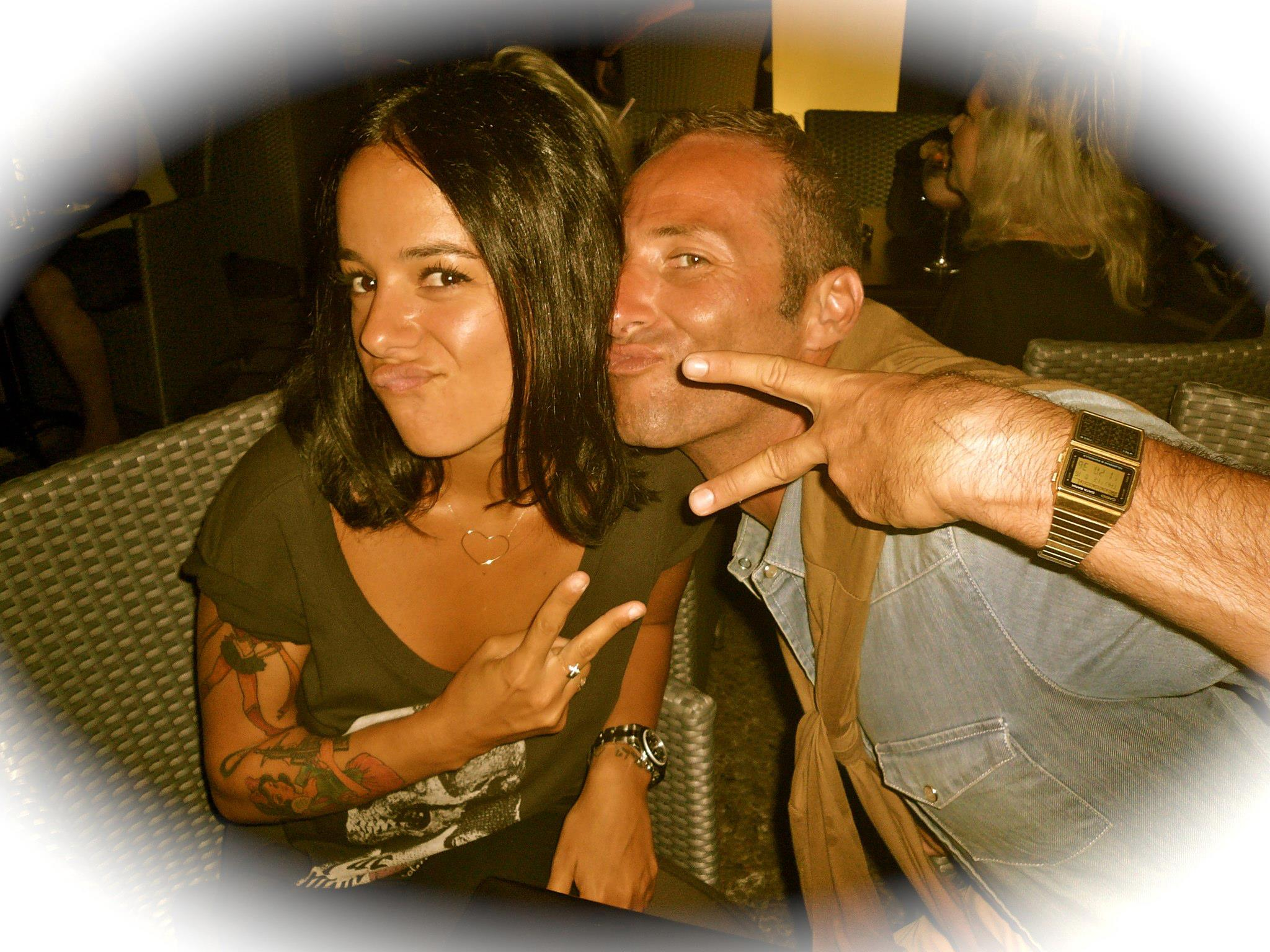 Alizée and Pierre-Antoine at the concert of Pussycat Kill Kill in Ajaccio on 16th of August 2012