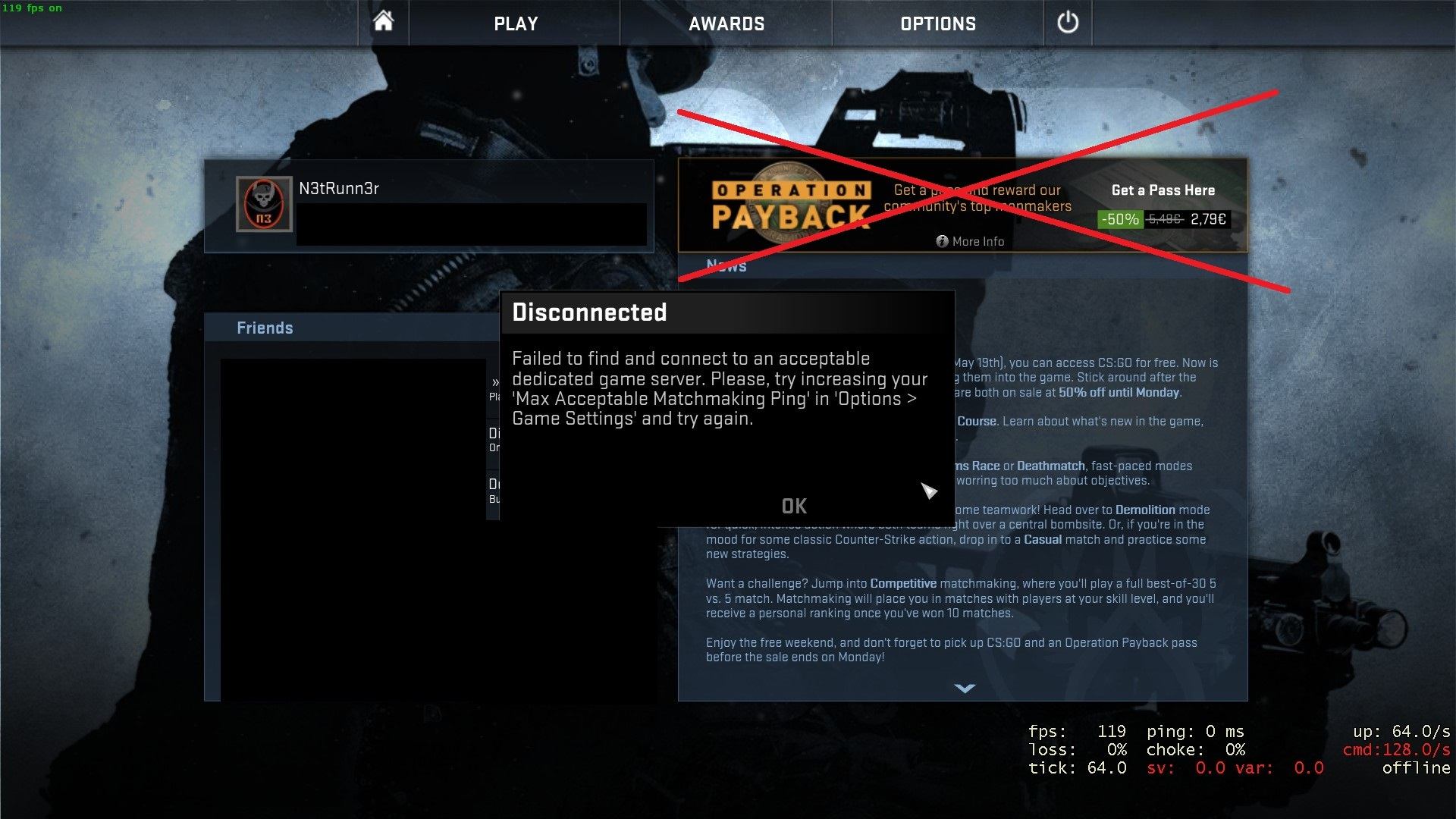 Csgo Cant Connect To Matchmaking Servers