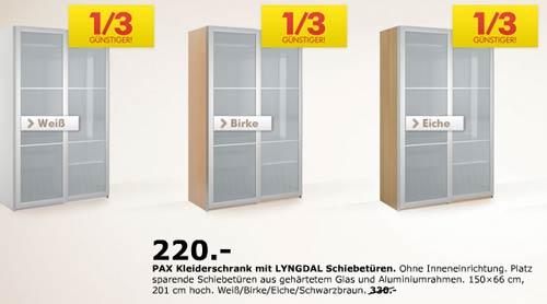 Ikea Gardinen Und Rollos Katalog ~ IKEA Pax Schränke ein Drittel günstiger
