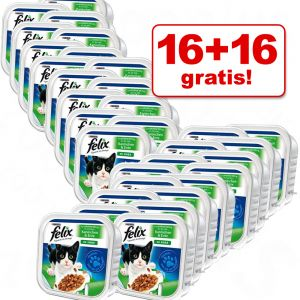 zooplus: 32 x 100g Megapack Felix Schalen (Katzenfutter) für nur 7,74€ inkl. Versand!! 24 Cent pro 100g!