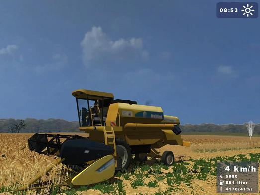 New Holland TC54 + Cutter