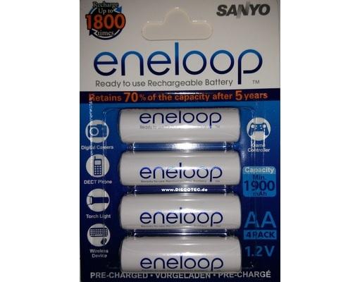 MeinPaket: Sanyo Eneloop 8x AA-Batterien für nur 15,08€ – aktuelle Generation HR-3UTGB-4BP