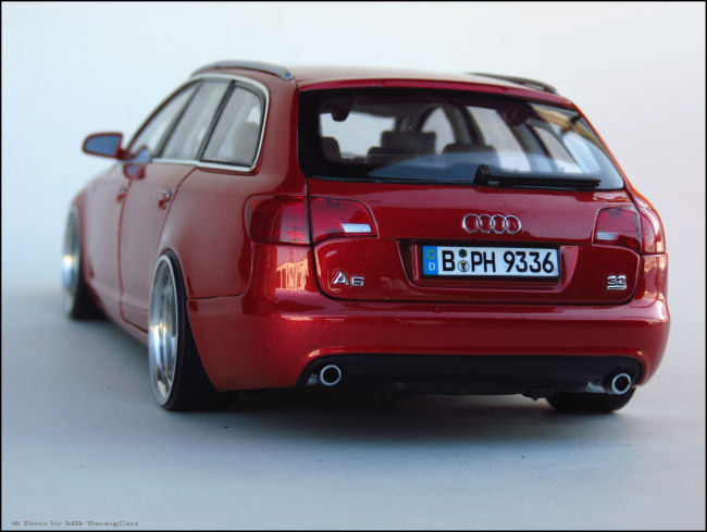 1 18 tuning audi a6 avant 3 2 s line quattro mit oz echt for Audi a6 breite mit spiegel