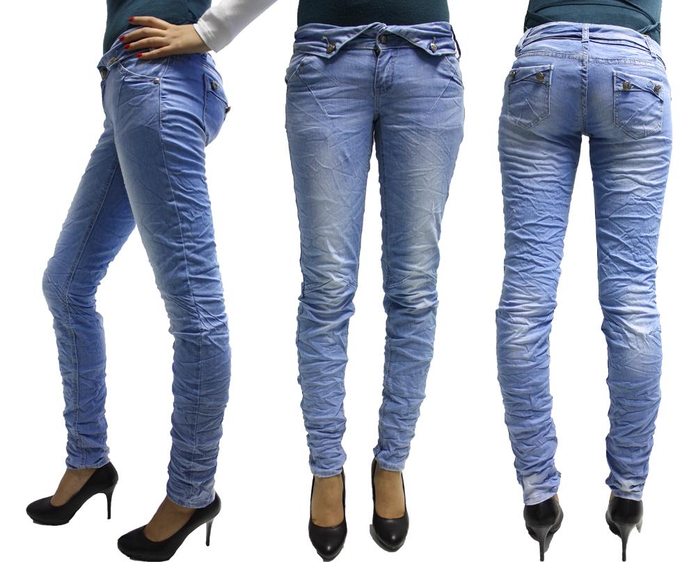 damen r hrenjeans hose helle jeans knittereffekt in gr 34 36 38 40 42 neu ebay. Black Bedroom Furniture Sets. Home Design Ideas